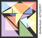 abstract  triangle | Shutterstock .eps vector #627263927