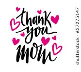 message thank you mom. happy... | Shutterstock .eps vector #627275147