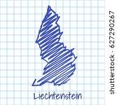 map of liechtenstein  blue... | Shutterstock .eps vector #627290267