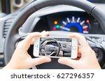 smart car concept   driving... | Shutterstock . vector #627296357
