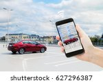 automatic parking concept  ... | Shutterstock . vector #627296387