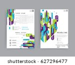 cards in modern abstract style... | Shutterstock .eps vector #627296477
