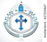heraldic coat of arms... | Shutterstock . vector #627310667