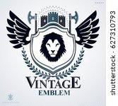 heraldic coat of arms... | Shutterstock . vector #627310793