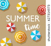 summer time quote  holiday... | Shutterstock .eps vector #627314573