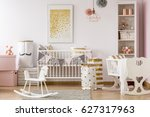 scandi style baby room with... | Shutterstock . vector #627317963
