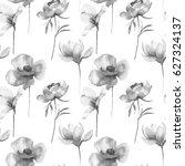 stylized flowers illustration ... | Shutterstock . vector #627324137