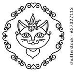 vector  illustration  outline ... | Shutterstock .eps vector #627327113