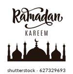 ramadan kareem greeting poster...   Shutterstock .eps vector #627329693