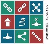 link icons set. set of 9 link... | Shutterstock .eps vector #627335477