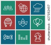 icons icons set. set of 9 icons ... | Shutterstock .eps vector #627352457