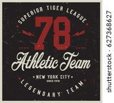 vintage varsity graphics and... | Shutterstock .eps vector #627368627