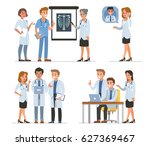 doctors characters collection.... | Shutterstock .eps vector #627369467