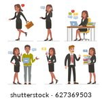 african american business woman ... | Shutterstock .eps vector #627369503