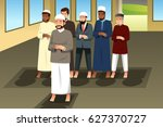 a vector illustration of muslim ... | Shutterstock .eps vector #627370727