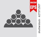 corporate group icon... | Shutterstock .eps vector #627371507