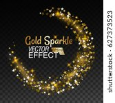 Gold Glittering Star Sparkling...