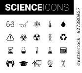 science set icons | Shutterstock .eps vector #627380627