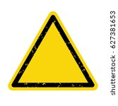 hazard warning sign  symbol ... | Shutterstock .eps vector #627381653