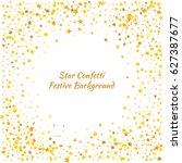 festive colorful golden star... | Shutterstock .eps vector #627387677