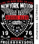 motorcycle label t shirt design ... | Shutterstock .eps vector #627394403