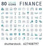 set line icons in flat design... | Shutterstock . vector #627408797
