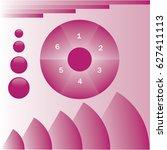circle graph sector | Shutterstock .eps vector #627411113