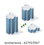 isometric 3d dimensional... | Shutterstock .eps vector #627415967
