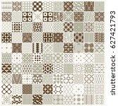 graphic vintage textures... | Shutterstock . vector #627421793