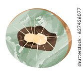 isolated cut of a kiwi  vector... | Shutterstock .eps vector #627426077
