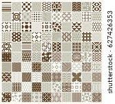 graphic ornamental tiles... | Shutterstock . vector #627426353
