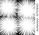 comic book radial lines... | Shutterstock .eps vector #627428423