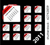 calendar on square ribbon | Shutterstock .eps vector #62742859