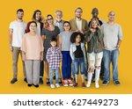 diversity of people generations ... | Shutterstock . vector #627449273