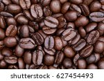close up shot of coffee... | Shutterstock . vector #627454493