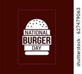 national burger day vector... | Shutterstock .eps vector #627479063