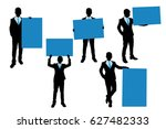 silhouette of businessman take... | Shutterstock .eps vector #627482333