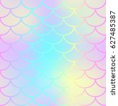 pink mermaid tail texture. fish ... | Shutterstock .eps vector #627485387