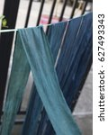 Small photo of Thai Indigo dye , Color shade Indigo dye is a product of the reaction of indoxyl