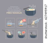 cooking instruction icon set ... | Shutterstock .eps vector #627495917