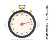 stopwatch with yellow buttons ...   Shutterstock .eps vector #627502283