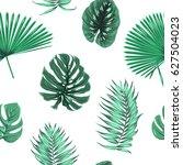 exotic tropical jungle rain... | Shutterstock .eps vector #627504023