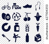 healthy icons set. set of 16