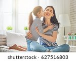 happy mother's day  mom and her ... | Shutterstock . vector #627516803