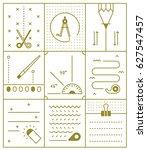 stationery vector illustration... | Shutterstock .eps vector #627547457