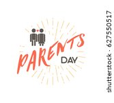 parents day badge design .... | Shutterstock .eps vector #627550517