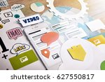 smartphone services. concept... | Shutterstock . vector #627550817