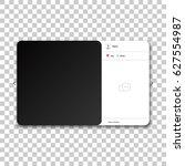social network photo frame.... | Shutterstock .eps vector #627554987
