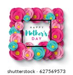 happy mother's day calligraphy... | Shutterstock .eps vector #627569573