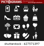 mother day vector icons for... | Shutterstock .eps vector #627571397